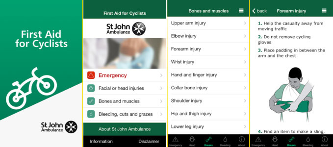 First Aid for Cyclists App